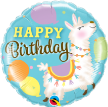 "Birthday Llama Foil Balloon (18"") 1pc"